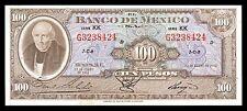 El Banco de Mexico 100 Pesos 25.1.1961, Serie KK. P-55j. AU+