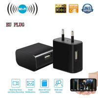 WiFi Hidden Spy CMOS Camera USB Wall Charger HD 1080P Nanny Night US//EU Plug CHZ