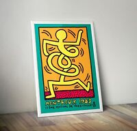 Keith Haring Print, Keith Haring Exhibition Poster, Wall art, Street Art