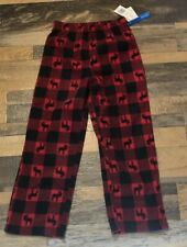 Climate Smart Red Plaid Pj Bottoms Boys Size S (6/7) Nwt