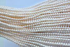 6 mm AA rund Zuchtperlen Strang Süßwasser Perlen Schmuck Halskette Collier
