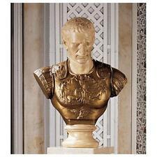 Julius Caesar Roman general dictator Sculpture Statue Bust replica reproduction