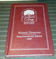 1987 Guilford College Alumni Directory Sesquicentennial Edition Hardback