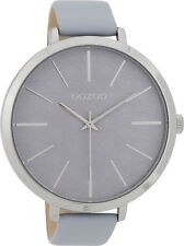 OOZOO XXL Damenuhr C9677 Rose beige Lederband 48 Mm