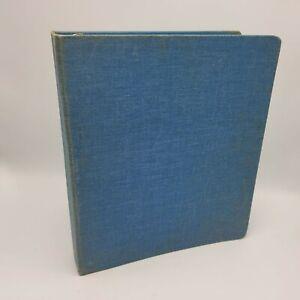 """Vintage Mead Blue Canvas Binder 1.5"""" Denim Loose Leaf Paper Retro"""