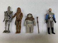 Vintage Star Wars Kenner 1977 1980 1983 -Chief Chirpa, Chewbacca General Madine
