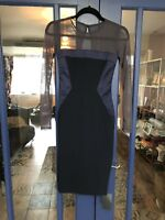 Hybrid Dress Size 8 New With Tags, Navy, Pencil Dress, Fitted,mesh, ASOS
