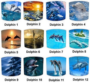 Dolphin Designs Lampshades, Ideal To Match Dolphin Bedding Sets & Duvet Covers.