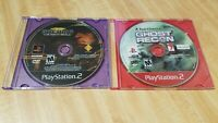 PS2 game bundle lot SOCOM 3 US Navy Seals & Tom Clancy's Ghost Recon- discs only
