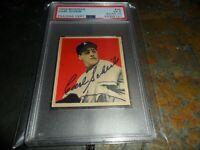 1949 Bowman #25 Autograph Carl Scheib ROOKIE Philadelphia PSA 5 PSA/DNA AUTO 10