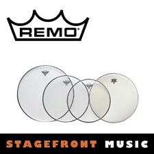"""REMO CLEAR DRUM HEAD PACK EMPEROR PRO ROCK SKINS 12"""", 13"""", 16"""" + 14"""" PP-0250-BE"""