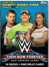 (4 Box Lot)  2018 Topps WWE Then, Now, Forever Blasters w/Relic
