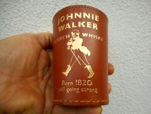 Ancien gobelet cuir lanceur de dés Johnnie Walker scotch whisky Born 1820