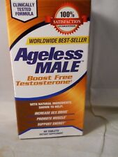 AGELESS MALE BOOST FREE TESTOSTERONE -60 TABLETS EXP 2020