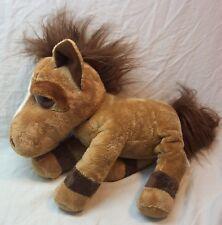 """RUSS Big Eyed JUMBALAYA THE BROWN FLOPPY HORSE 14"""" Plush STUFFED ANIMAL Toy"""