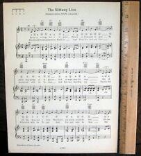 "PENN STATE UNIVERSITY Song Sheet c1929 ""The Nittany Lion"" (plus bonus - Victory)"
