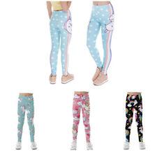 Unicorn Girls Panties Cartoon Rainbow Leggings Casual Long Panties Size 8