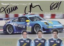 Felbermayr Jr, Ried, Cruz Martins Hand Signed Le Mans Promo Card.