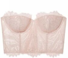 Victoria's Secret Dream Angels Lined Strapless Chantilly Lace Mini Bustier 36CB4