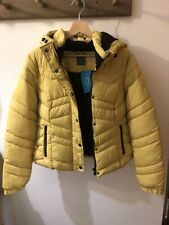 BNWT Primark Mustard Yellow Puffer Puffa Jacket Coat - Small S UK 10 - 12