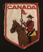 CANADIAN MOUNTIE Vintage Souvenir Patch CANADA Travel Hiking Police