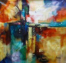 Abstract Oil painting on canvas,100% hand painted, Abstarct, Large Colourful.