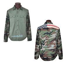 Denim Supply Ralph Lauren Camo Shirt Mens S USA Flag Cotton Long Sleeve NWT $125
