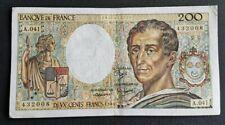 FRANCE - FRANCIA - FRENCH NOTE - BILLET DE 200 FRANCS MONTESQUIEU 1986 TTB.