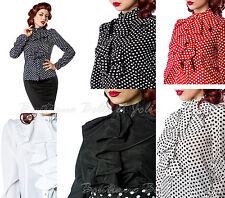 Markenlose gepunktete Damenblusen, - Tops & -Shirts-Blusen