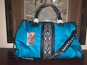 MONTANA WEST TEAL DUFFEL TOTE BAG NWT WITH MW STRAP AMAZING WEEKENDER DUFFEL