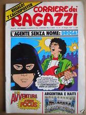 Corriere dei Ragazzi n°25 1974 inserto Albo Avventura + Poster Argentina [G419]
