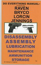 Raven Bryco Lorcin Jennings Pistol Do Everything Manual-Parts-Disassembly-380-25