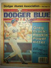 """""""DODGER BLUE"""" - OFFICIAL DODGER NEWSPAPER + LETTER TO DODGER ALUMNI MEMBERS"""