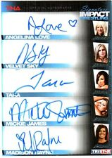 TNA Knockouts Mickie James A Love 2011 Sig Impact FIVE Autograph Card GOLD 3/25