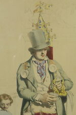 RARE GRAVURE ANCIENNE  JOSEPH FÉLON LE MARCHAND DE COCO 1850 VIEUX METIERS PARIS
