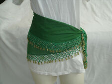 Egyptian Green Belly Dancing Triangle Belt Rows Of Beads All Around #31