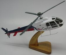 AS-355 Ecureuil 2 NorCopter Eurocopter Helicopter Mahogany Wood Model Small New
