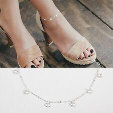 Fußkettchen Zirkonia echt Sterling Silber 925 20 - 24 cm Damen Fußkette