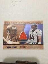 John Elway Game Used Jersey 2002 Fleer