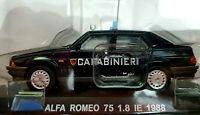 Alfa Romeo 75 1.8 IE 1988 Carabinieri - Scala 1:43 - Atlas - Nuovo