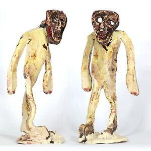 """Sculpture """"Damysos"""" 21cm unique ceramic Andreas Loeschner-Gornau"""