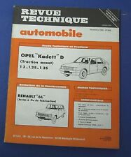 Revue technique RTA 405 opel kadett D traction avant 1.2 1.2S 1.3S