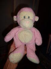 Ty Monkey PINK Pluffies DANGLES Retired Sewn Eyes Stuffed Animal 2006 RARE