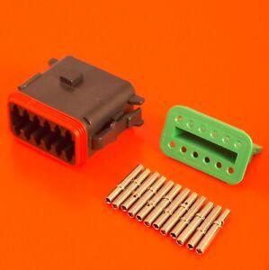 Deutsch DT Series 12 Way Plug Connector Kit DT06-12SA-CE10 C/W Pins Wedglock