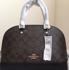 Coach Mini Sierra Satchel Signature F37232 Brown/Black BRAND NEW WITH TAG AUTHTC