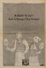 Robert Wyatt Ruth Is Stranger UK LP advert 1975