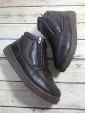 Fashion Womens Size 8 Dark Brown Warm Lined Ankle Boots Outdoors Casual Comfort