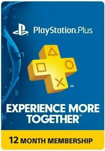 MAIL DELIVERY PlayStation Plus (PS+) 12 Month / 1 Year Membership Subscription