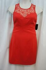 Guess Dress Sz 12 Ruby Red BILLY Stretch Lace Strapless Evening Cocktail dress
