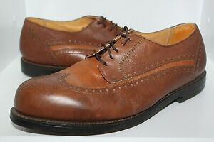MENS FLORSHEIM IMPERIAL WINGTIP BROWN LEATHER GOLF SHOES SIZE 10 EEE